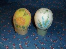 ksm.  2 Easter Eggs Foam with Decor 2 7/16 Inch High White Hole Bottom