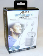 ANX 3 Piece Apple Airpod Accesory Kit Strap, Silicone Case, Wing Cover Headphone