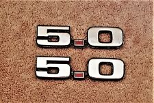 FORD MUSTANG 5.0 FENDER EMBLEMS OEM (2 PIECES)