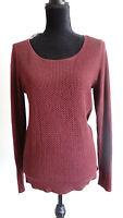 Ann Taylor Women's Red Scoop Neck Long Sleeve Shirt Size Medium NEW
