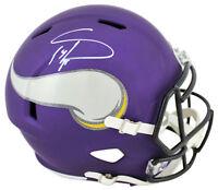 Vikings Stefon Diggs Authentic Signed Purple Full Size Speed Rep Helmet BAS
