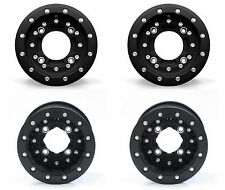 "Hiper CF1 Carbon Fiber Beadlocks 10"" Front 9"" Rear Wheels Rims YFZ Raptor Banshe"
