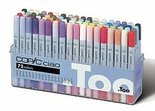 NEW Too Copic Ciao Markers Sketch 72 (72 Colors Set A) FreeShipping / From JAPAN