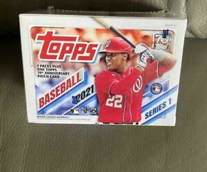 Topps Series 1 Baseball Blaster Box Guaranteed Patch Card - In UK Factory Sealed
