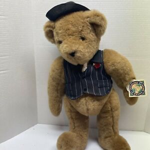 Vintage Vermont Teddy Bear Gangster of Love ~ Plush, Jointed, Poseable 20in Tags