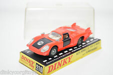 DINKY TOYS 210 ALFA ROMEO 33 TIPO LE MANS ORANGE NEAR MINT BOXED