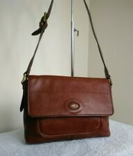 The Bridge Italian Soft Leather Brown Ladies Bag Shoulder Grab Handbag N44