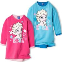 Disney Frozen Elsa Girls Warm Dress Tunic Jumper Sweatshirt 95% COTTON 3-9 Yrs