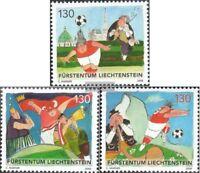 Liechtenstein 1479-1481 (kompl.Ausg.) postfrisch 2008 Fußball