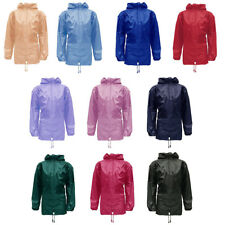 Kids Boys Girls Kagool Rain Coat Jacket Mac Cagoule Kagoul | Age 4~16