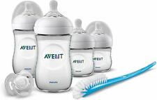 Philips Avent Natural - Bottle Gift Set 4 Baby Bottles + 1 Dummy + 1 Brush Trans