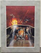Dave Dorman STAR WARS ~ ROUGE SQUADRON Pro Suede Matted Art Print LUKE SKYWALKER