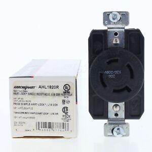 Cooper Locking Receptacle Turn Lock Outlet NEMA L18-20R 20A 120/208V 3Ø AHL1820R