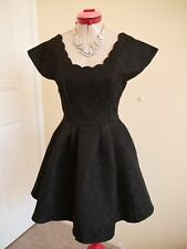 GOTHIC Black Embossed DRESS Size 8 BNWT NEW FIT & FLARE Cocktail Evening Party