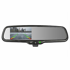 """OEM Rear View Mirror with Ultra 4.3"""" Auto LCD w Manual Dimming -Master Tailgater"""