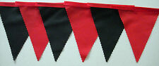 Manchester UTD fabric bunting BLACK & RED 2 mt  or more Football Christmas gift