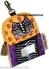 Laurel Burch Polka Dot Cat ID Wristlet Cell Phone Case Bag iPhone iPod MP3 NEW C