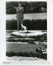 Kevin Costner JFK original scene photo looking at grave of J.F Kennedy