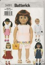 B3491 18 Inch Doll Clothes New Sewing Pattern Butterick 3491