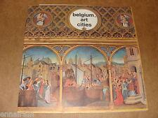 Belgium Art Cities and Art Treasures brochure vintage 18 pgs.