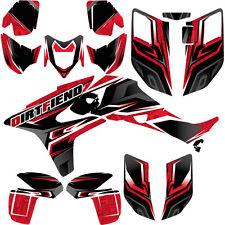 "TRX450R Graphics 04-05 DFR ""Traction"" Black Red Full Wrap Honda TRX450R ATV"