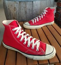 1970'S 1980'S CONVERSE (( MADE IN USA )) HIGH TOP SHOES SZ 10 RED CHUCK TAYLOR