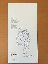 Disegno autografo di Milo Manara