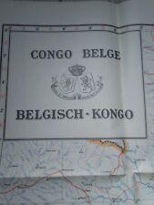 Carte CONGO BELGE - BELGISCH KONGO 1953 - Ministère des Colonies - Bruxelles