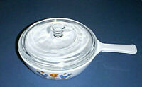 Corning Ware BLUE BIRDS / FRIENDSHIP P-83-B Skillet with Pyrex Glass Lid P-83-C