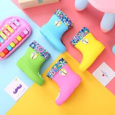 3D Cartoon Character Rain Boots Kids Toddler girls boys Rain shooes with liner