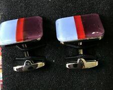 Paul Smith Cufflinks 3 stripe glazed