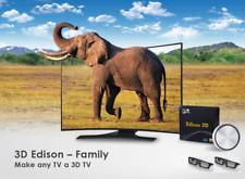 3D Edison Family 2D to 3D Converter TV HDMI HD 1080P & 2pcs 3D Shutter Glasses