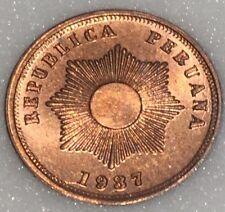 Peru 2 Centavos.  1937.  Gem Uncirculated.  Lustrous & Full Red.