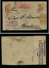 Netherlands  Indies  censor ?? or sealed   registered  cover 1921    AR0825