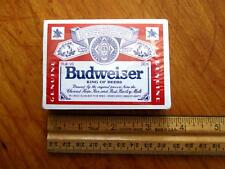 Budweiser Playing Cards New Sealed