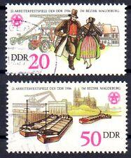 DDR 3028-3029 , gestempelt / o / Arbeiterfestspiele Magdeburg