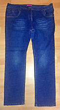 Womens Blue Skinny Jeans UK Size 18 R L30 PLUS SIZE  (222)
