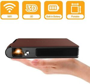 Mini Pocket Wifi Projector 3D DLP 3600 Lumens WXGA HD DEL Portable Wireless Vi