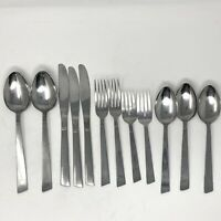 NSCO National Silver Co Japan Stainless Flatware 12 Pc Lot ART DECO