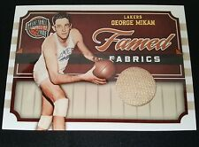 2010 PANINI HALL OF FAME FAMED FABRICS JERSEY george mikan LAKERS /99 RARE