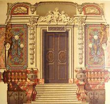 VESTIBULE Gaston MENIER CHOCOLAT PARC MONCEAU lithographie 19e DALY ARCHITECTURE