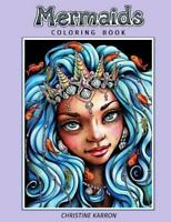 Mermaids Coloring Book, Paperback by Karron, Christine, Like New Used, Free s...