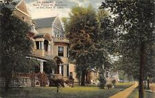 Galesburg Illinois~North Prairie Street Homes~Colonel Clark E Carr~1910 PCK
