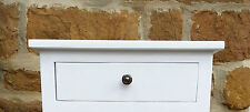 W45 H17 D77 BESPOKE WALL MOUNTED CONSOLE TABLE SHELF DRAWER WHITE