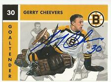 GERRY CHEEVERS Autographed Signed 1995 Parkhurst card Boston Bruins COA