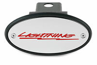 1993 - 2004 Ford F-150 SVT LIGHTNING Chrome Receiver Hitch Cover Red Fill