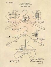 Vintage Dress Hangar Official US Patent Art Print- Antique Dress Boutique - 765