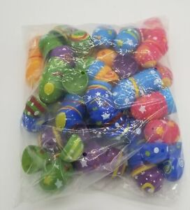 """Plastic Colorful Printed Bright Easter Eggs (2.5"""" Tall/ 84 Pieces)"""