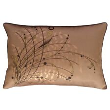 French Beige Queen Size Jacquard Satin Meadow Reeds Pillow Case/Cushion Cover