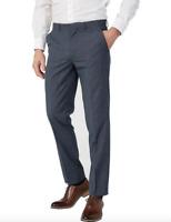 New Simon Carter Alfie Melange Check Suit Trousers in Blue Colour Size:34R
